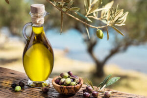 Fresh olive oil after extraction